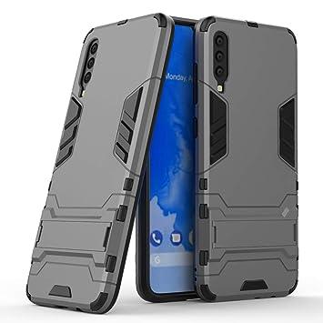 Ougger para Samsung Galaxy A70 Funda Carcasa Cover, Protector Extrema Absorción de Impacto [Kickstand] Piel Armor Cover Duro Plástico + Suave TPU ...
