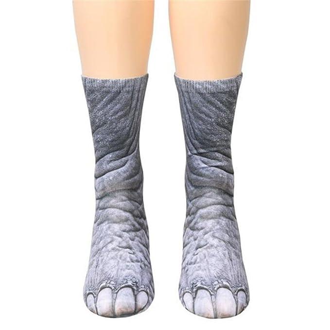 QinMM Calcetines De Animales Hombre Mujer calcetines térmicos (A): Amazon.es: Ropa y accesorios