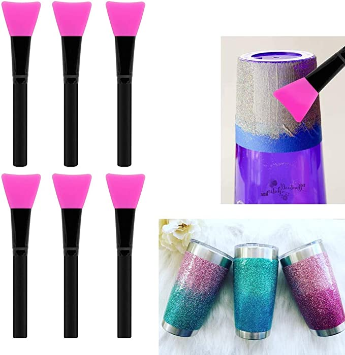 6Pcs Plastic Brush for Epoxy Resin Silicone Mold Casting DIY Making Craft Tools