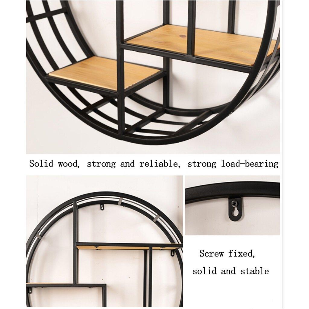 Agreable Noir Étagère Murale Multifonctionnelle Salon étagères Chambre Solide Bois  Présentoir Systèmes De Rayonnage à Tablette