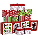 Iconikal Christmas - Holiday Gift Boxes Assortment - 3 Sizes - 14 Pack