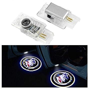 Amazon.com: Luz LED para puerta de cortesía con logotipo de ...
