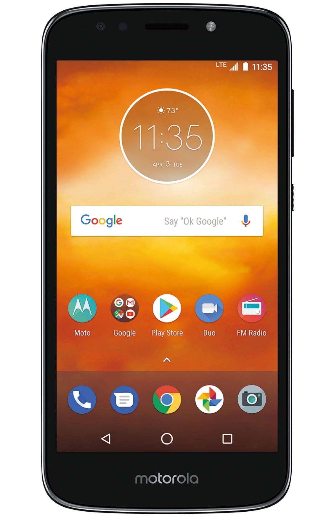Motorola Moto E5 Play XT1920-19 Factory Unlocked 16GB Dual SIM 1GB RAM 4G LTE 5.3'' LCD Display 8MP International Version (Black) by Motorola (Image #2)
