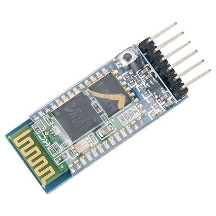 HiLetgo HC-05 Wireless Bluetooth RF Transceiver Master Slave Integrated  Bluetooth Module 6 Pin Wireless Serial Port Communication BT Module for