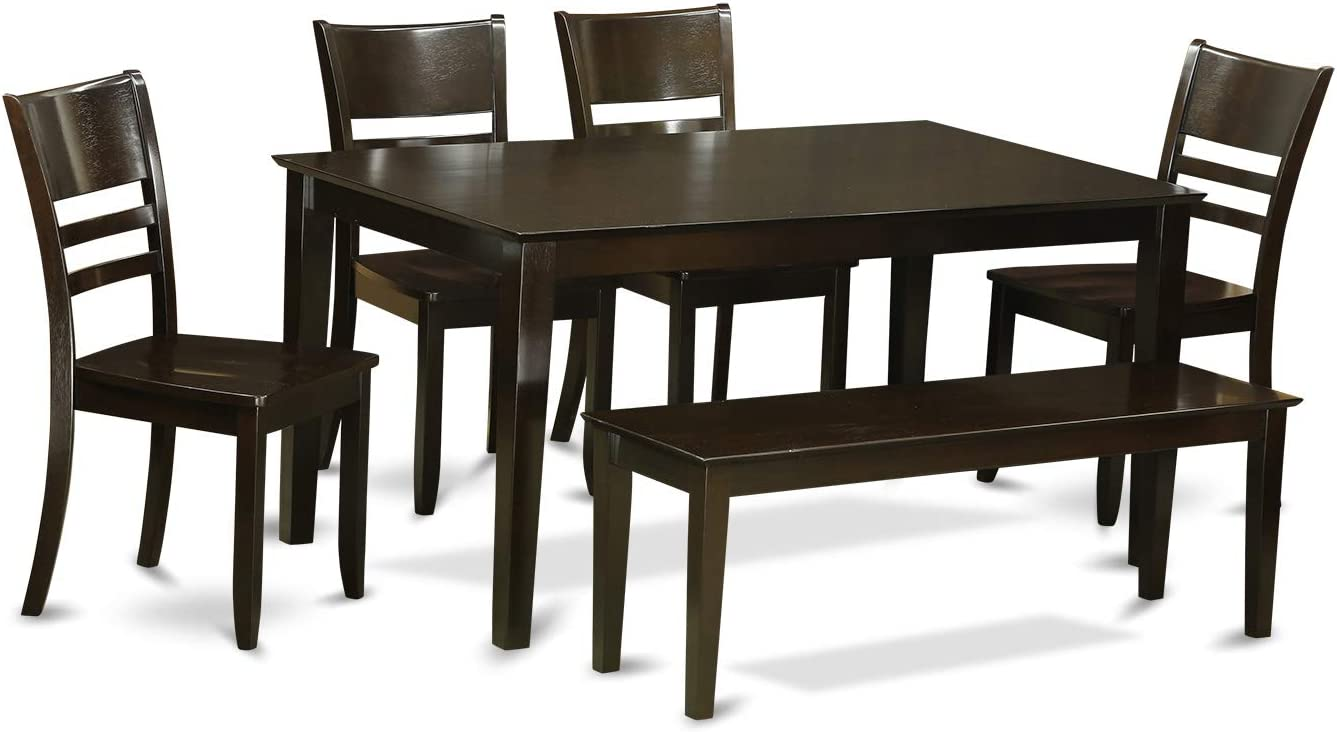 6-Pc Dining room set with bench - Dining Table and 4 ding room Chairs and Bench