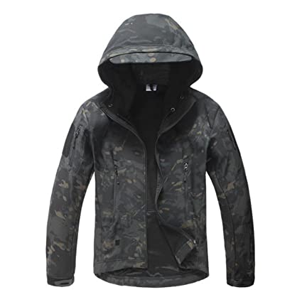 c5397d3c15cda Amazon.com: Coldstar Men's Hunting Jacket Camo Soft Shell Hooded ...