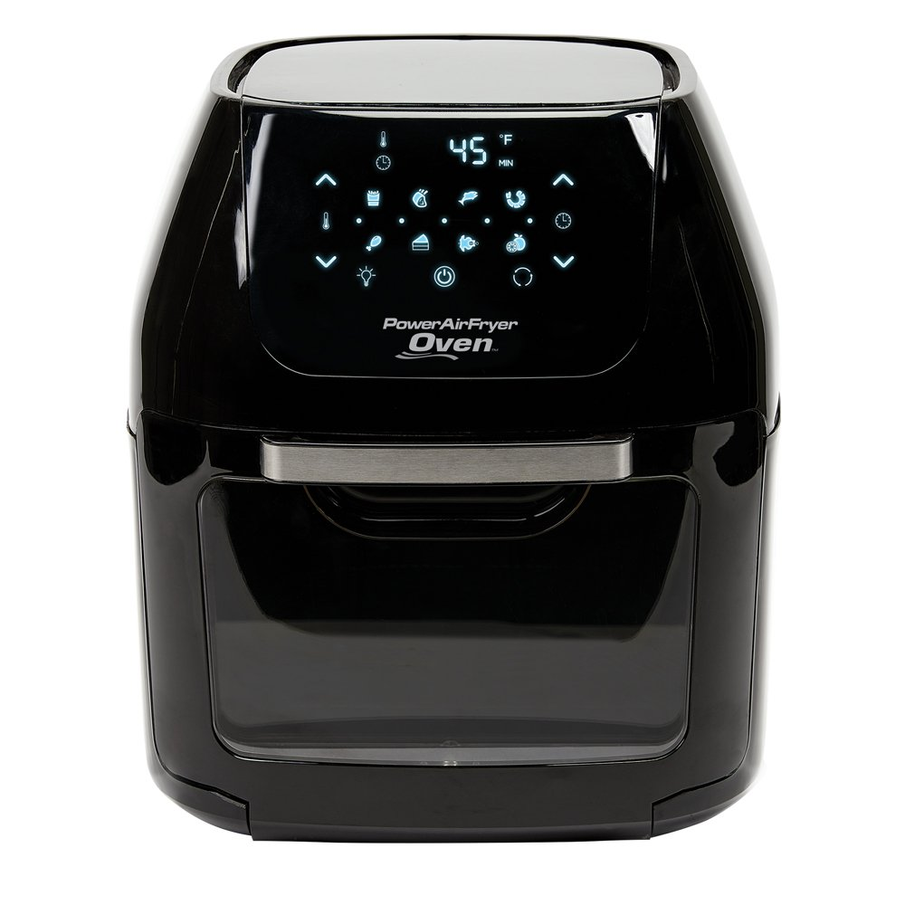 8 QT Family Sized Power Air Fryer Oven With - 7 in 1 Cooking Features with Professional Dehydrator and Rotisserie