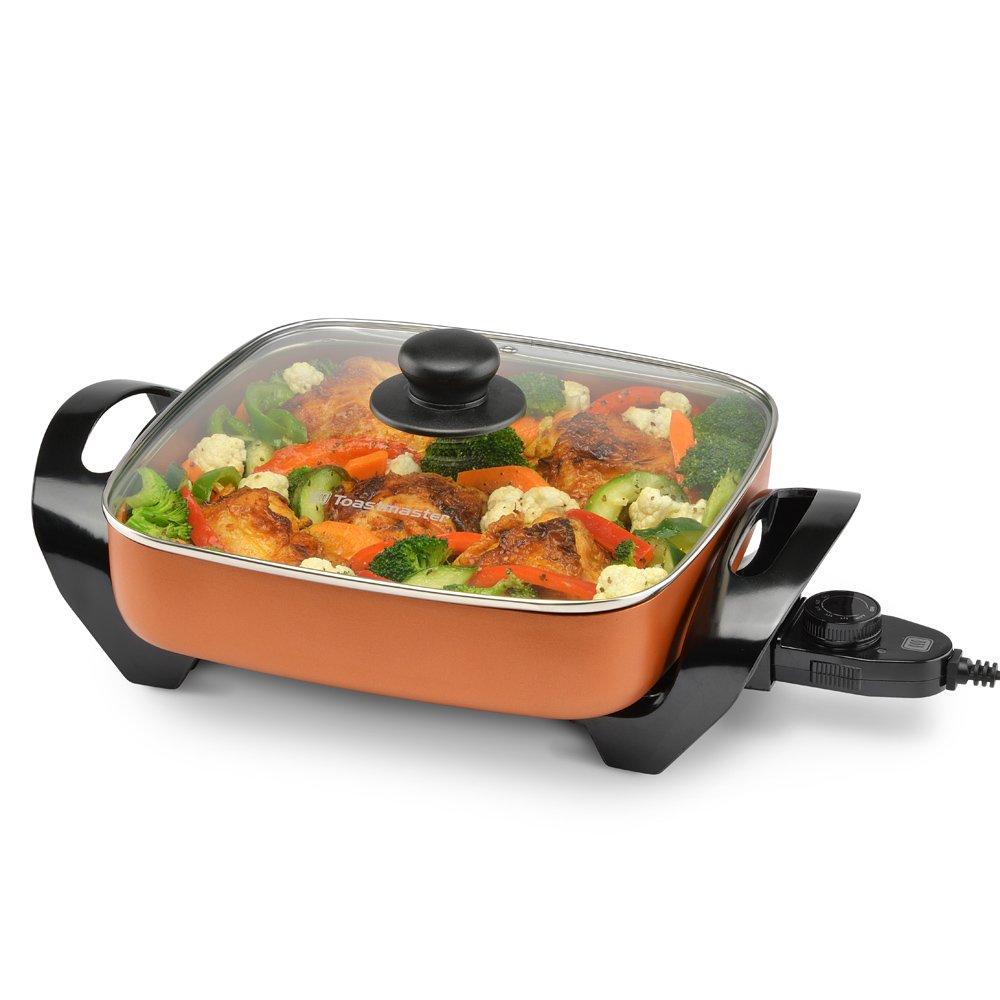 Toastmaster TM-11SKCP Copper Skillet