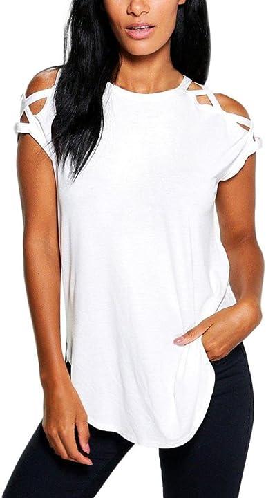 FAMILIZO Camisetas Mujer Verano Blusa Mujer Elegante ...