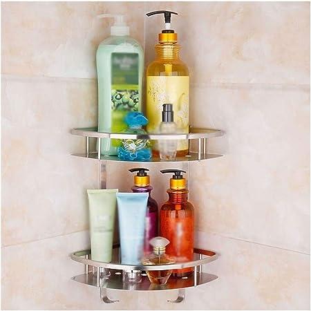 Stainless Steel Bathroom Kitchen Shelf Storage Adhesive Basket Punch Free