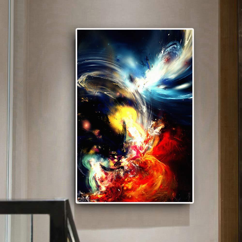 kanhaonio Abstracto Colorido Nube océano Paisaje Pintura al óleo ...