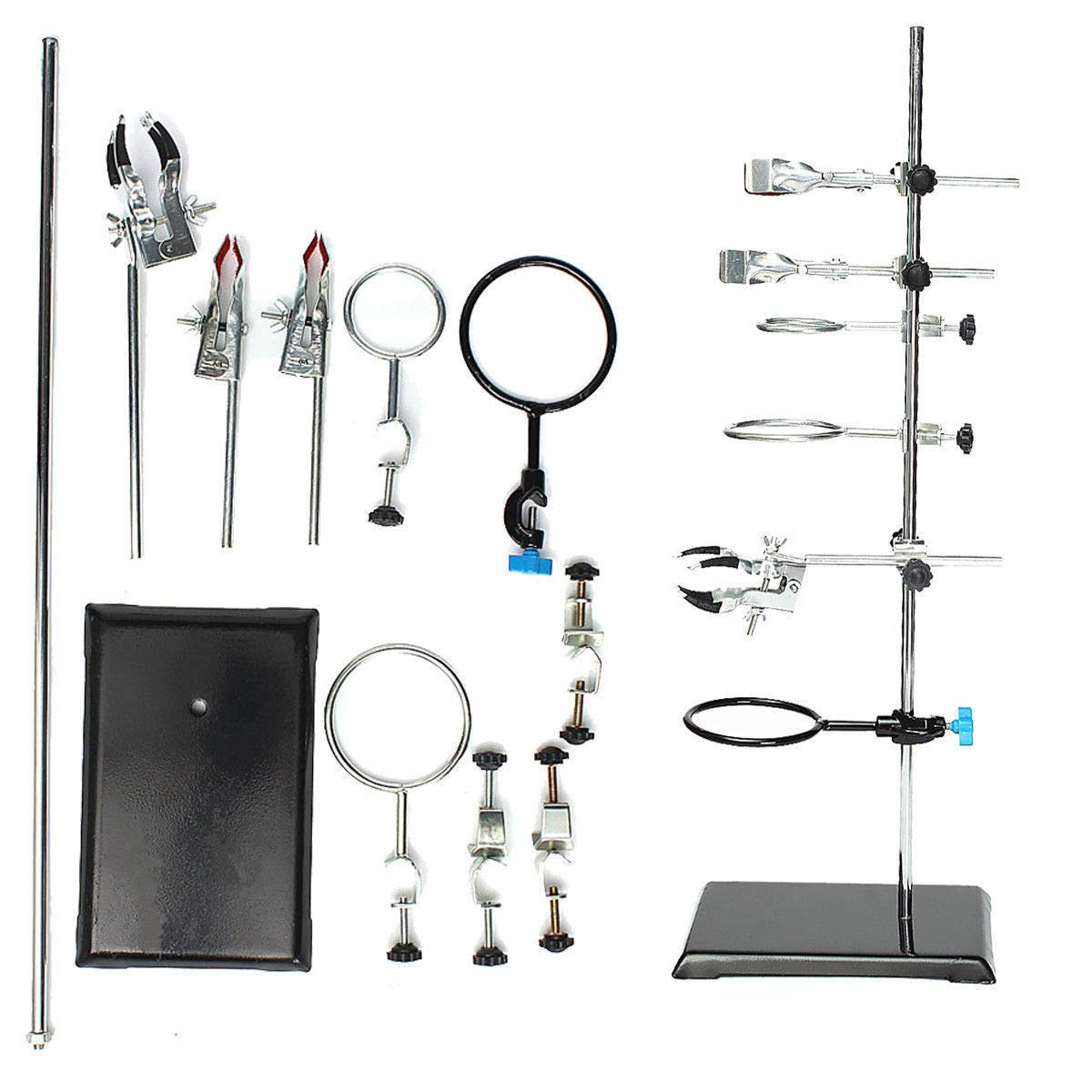 Modern Chemistry Laboratory Stands Set 600MM Lab Flask Support Set Lab Support Flask Clamp Clips