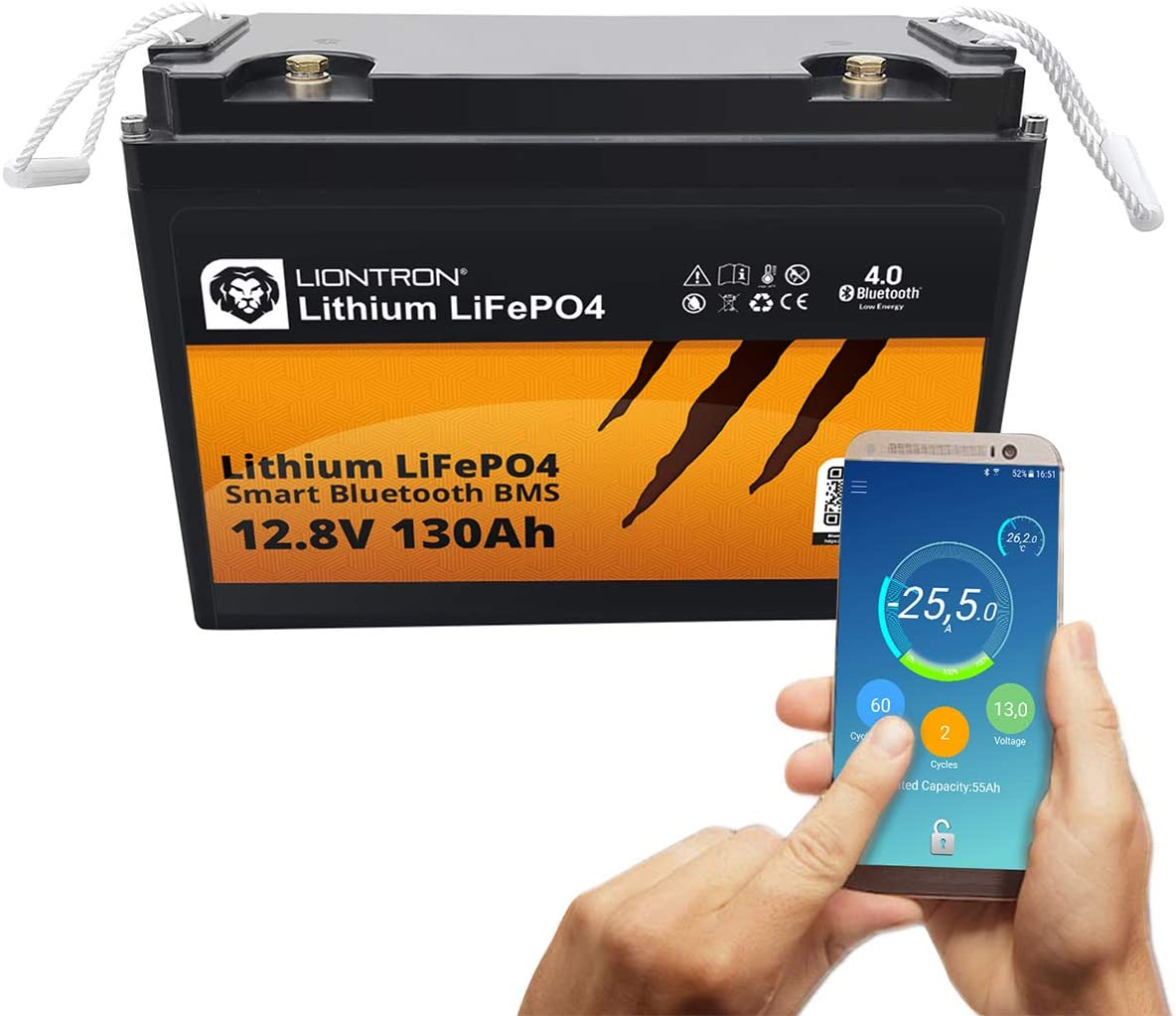 Liontron Lifepo4 12v 130ah Lithium Batterie Mit Smart Elektronik