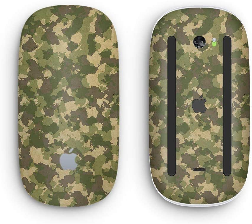 Military Camouflage V2 Wireless, Rechargable Design Skinz Premium Vinyl Decal for The Apple Magic Mouse 2 with Multi-Touch Surface