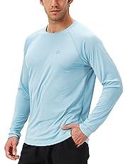 NAVISKIN Playera Deportiva de Manga Larga para Hombre UV UPF 50 Camiseta Casual de Deporte Térmica Acampada Campismo Senderismo Marcha Ligera Secado Rápido