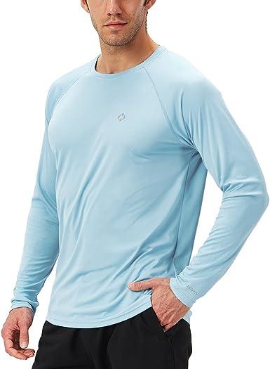 Naviskin - Camiseta de manga larga para hombre, protección solar UPF 50+ UV, Large, Azul powder: Amazon.es: Ropa y accesorios