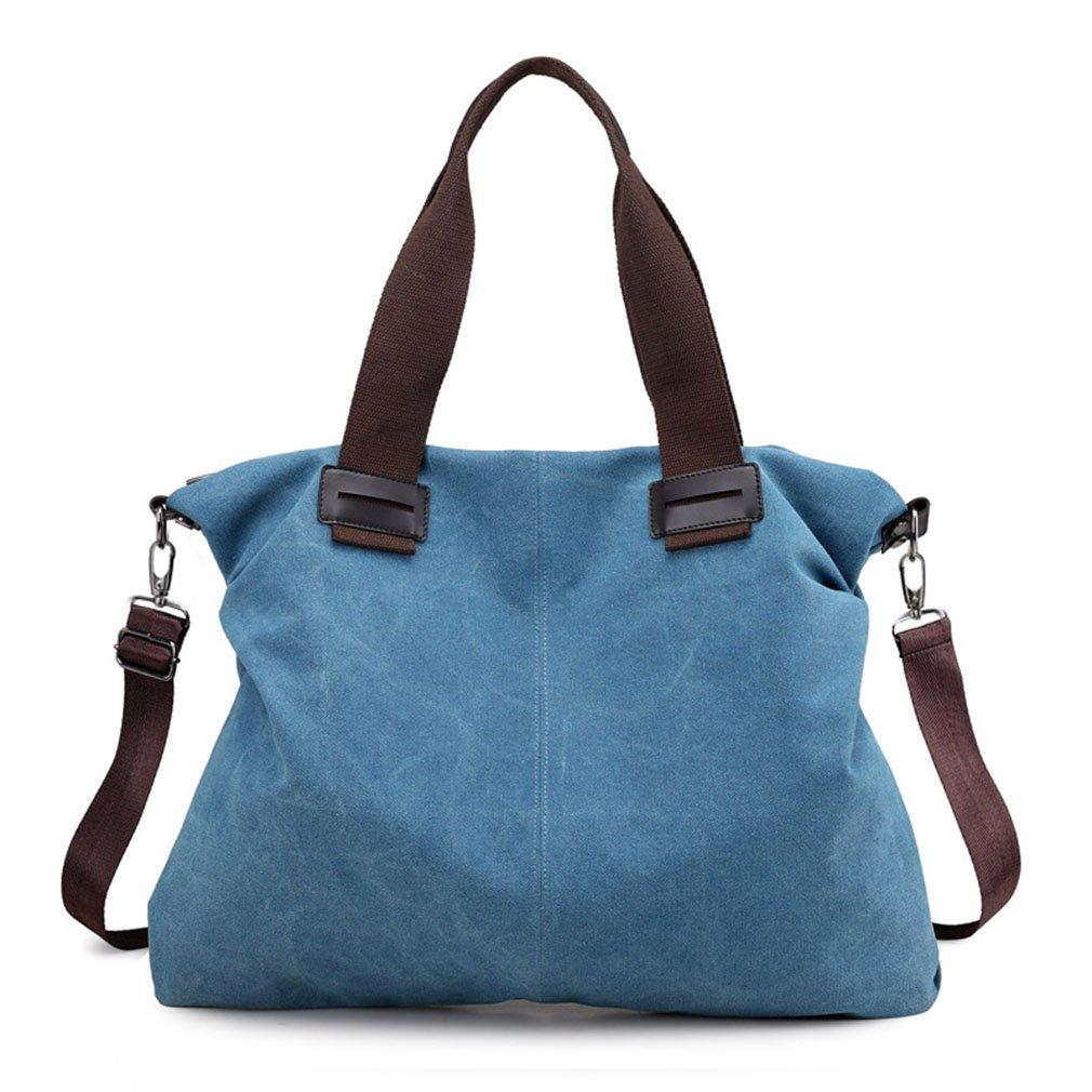 Women Top Handle Satchel Handbags Shoulder Bag Tote Purse (Medium Blue)