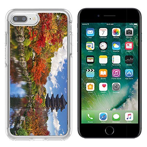 Liili Apple iPhone 7 plus/8 plus Clear case Soft TPU Rubber Silicone Bumper Snap Cases iPhone7 plus/8 plus IMAGE ID: 25134607 To ji Pagoda in Kyoto Japan during the fall (Pagoda Japan)