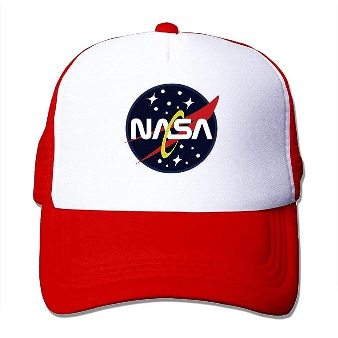 409a34bf35a4 Qicaiyang NASA Mesh Hat Trucker Baseball Cap  Amazon.de  Bekleidung