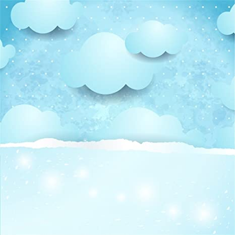 OFILA Cartoon Clouds Backdrop 6x6ft Kids Room Wallpaper Children Birthday Party Background Baby Shower Theme Photos