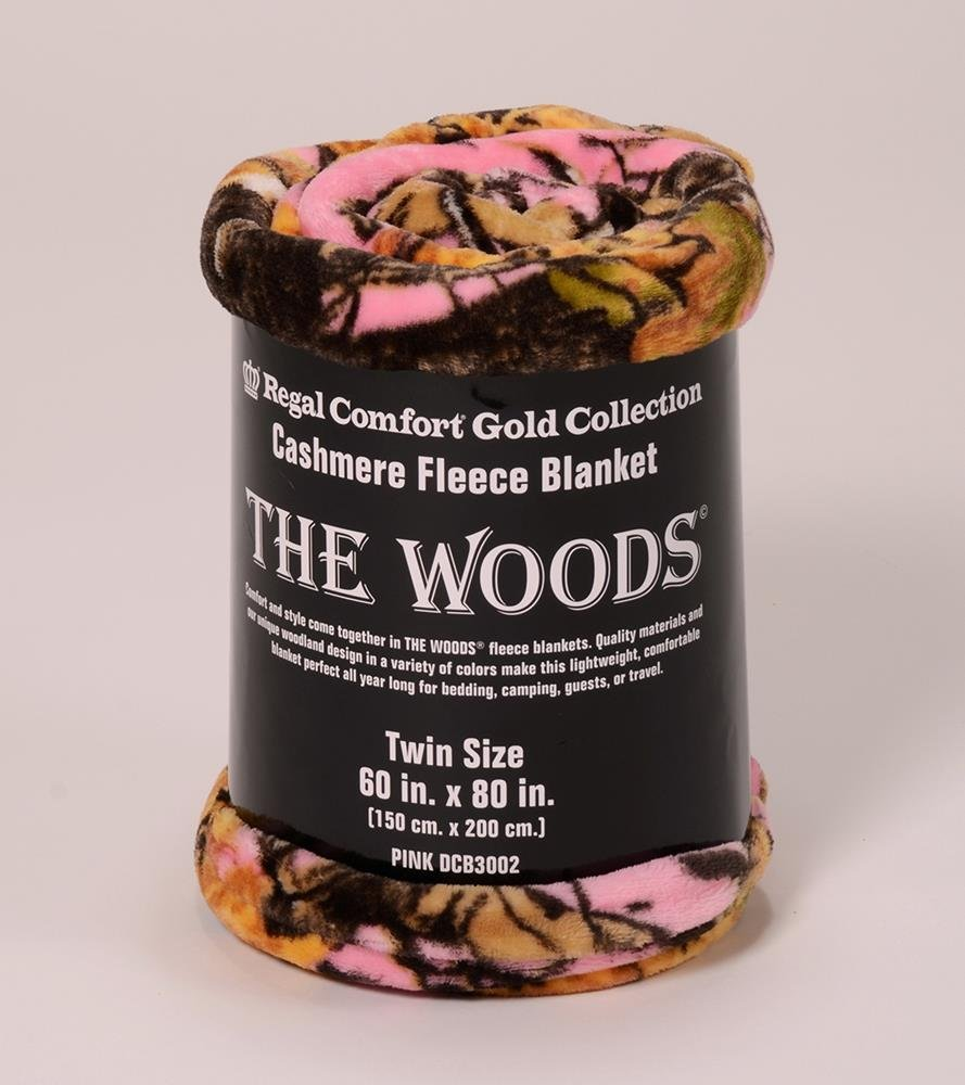 The Woods Collection Cashmere Fleece Blanket (Pink, Twin)