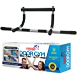 Door Gym Total Upper Body Iron Workout Bar for Pull up, Chin up, Dips & Abs Exercise - 5-Minute Assembly, No Frills & Fits Doors (24 to 32 inch Wide)