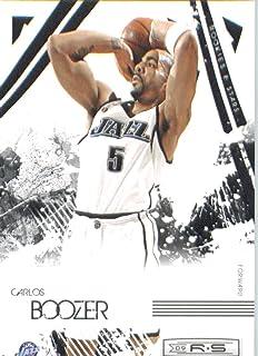 Leaf 2009/10Feuille Rookie et Étoiles Basketball Carte # 94Carlos Boozer Utah Jazz Menthe Perche Expédié Panini