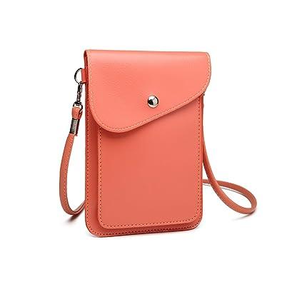 76cb4e9457e75 Miss Lulu PU Leder Kleine Handytasche Schultertasche Mini Geldbörse Kleine  mit vielen Farben Clutch Ausgehtasche (