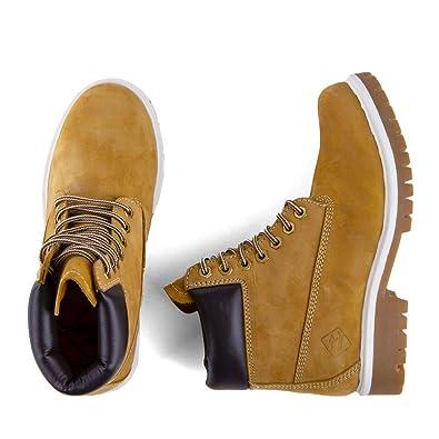 f974497e832a9 Roadsign Chaussures Boots Montantes Camel Enfant 36 Jaune  Amazon.fr ...
