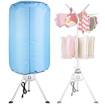 Marvelous Yescom Portable Electric Clothing Dryer 1000W Heater Folding Drying Machine  Lightweight