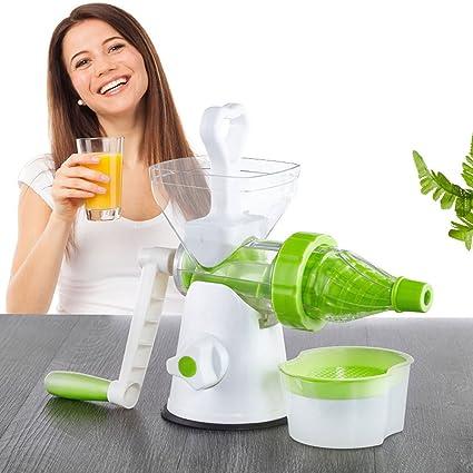 WESEASON Jugo De Desayuno Exprimidor para Exprimidor Saludable Frutas Y Vegetales Manual De Mano Exprimidor De