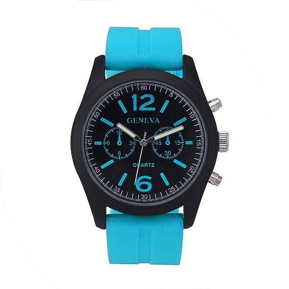 Geneva Fashion Unisex Silicone Silicona Reloj Unisex Relojes Mujer ...