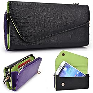 Kroo Urban Black / Purple Wallet fits Pantech Vega No6 IM-A860K case
