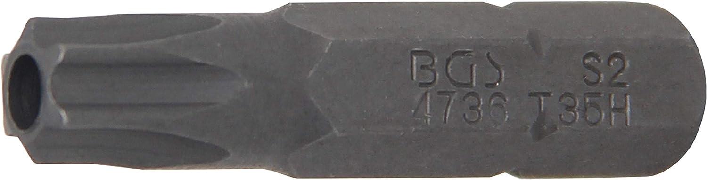6,3 mm 1//4 pour Torx   profil T avec per/çage T10 BGS 2439 Embout