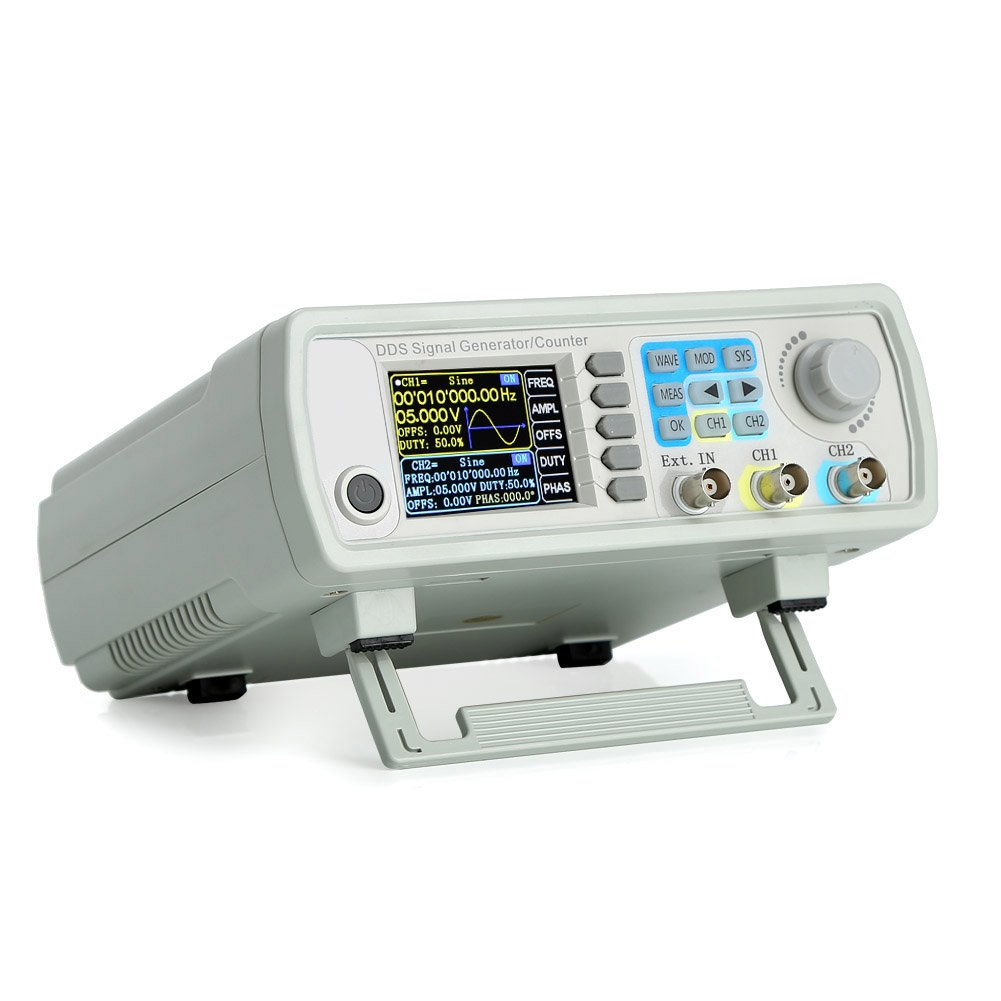 Best Rated In Function Generators Helpful Customer Reviews Circuit Diagram Besides 4 20ma Signal Generator Also Koolertron Upgraded 15mhz Dds Counterhigh Precision Dual Channel Arbitrary Waveform Frequency Meter 200msa S