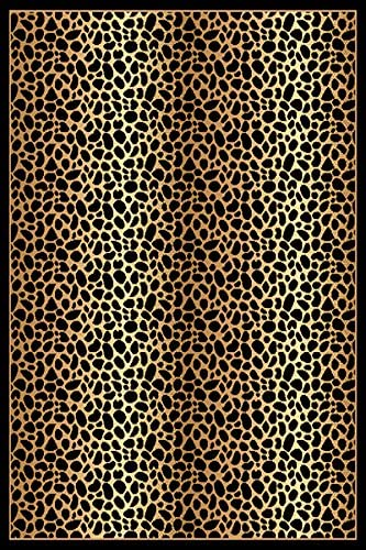 PlanetRugs Inc RIMA Modern Abstract Contemporary 5X8 5×7 Colorful Luxury Rug for Bedroom, Living Room, Dining Room 2252 Leopard