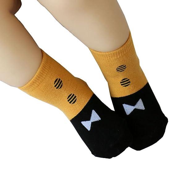 Calcetines Altos Bebe Calcetines Algodon Calcetines De Moda Únicos Para Bebés Y Niños Pequeños Antiskid Toddler Cotton Low Socks Ye/S: Amazon.es: Ropa y ...