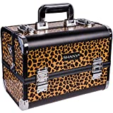 SHANY Fantasy Collection Makeup Artists Cosmetics Train Case – Leopards texture
