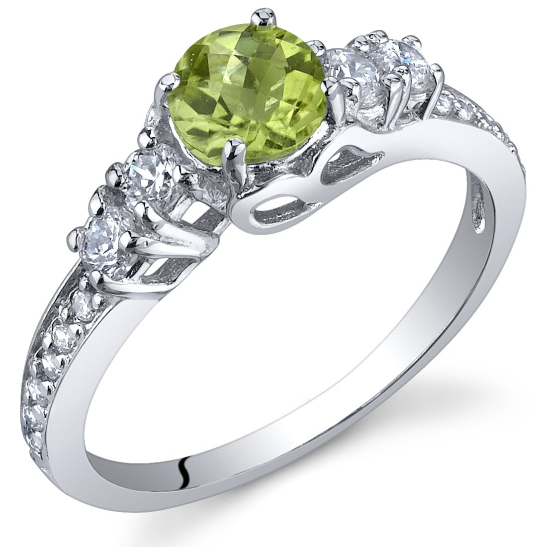 Peridot Solstice Ring Sterling Silver Size 7