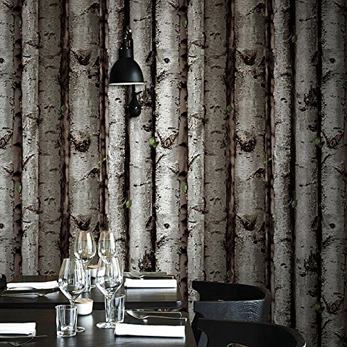 Blooming Wall:3d Birch Tree Wall Mural Wallpaper,20.8 In32.8 Ft=57 Sq Ft/Roll,Looks real up!Birch