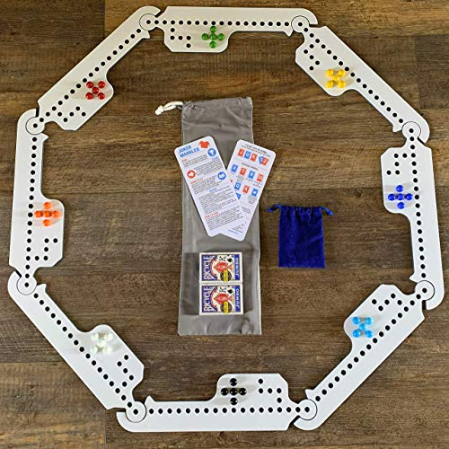 Jokers and Marbles: Travel Edition (8 Player Version) (Marble Game Board)
