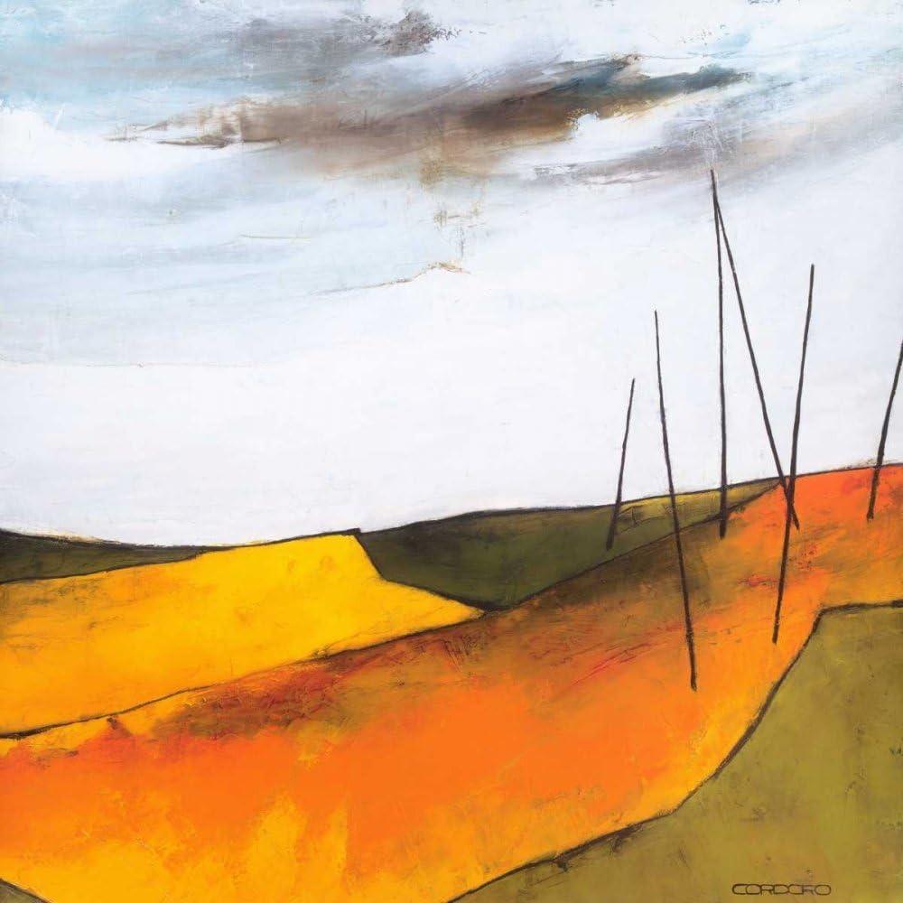 Feeling at home LIENZADO-con-AMERICAN-BOX-Fascinante-paisaje-VI-Cordaro-Emiliana-Abstracto-Fine-Art-impresión-sobre marco de madera-Cuadrado-30x30_in