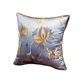 Amazon.com: Estilo chino clásico flores bordado almohadas ...