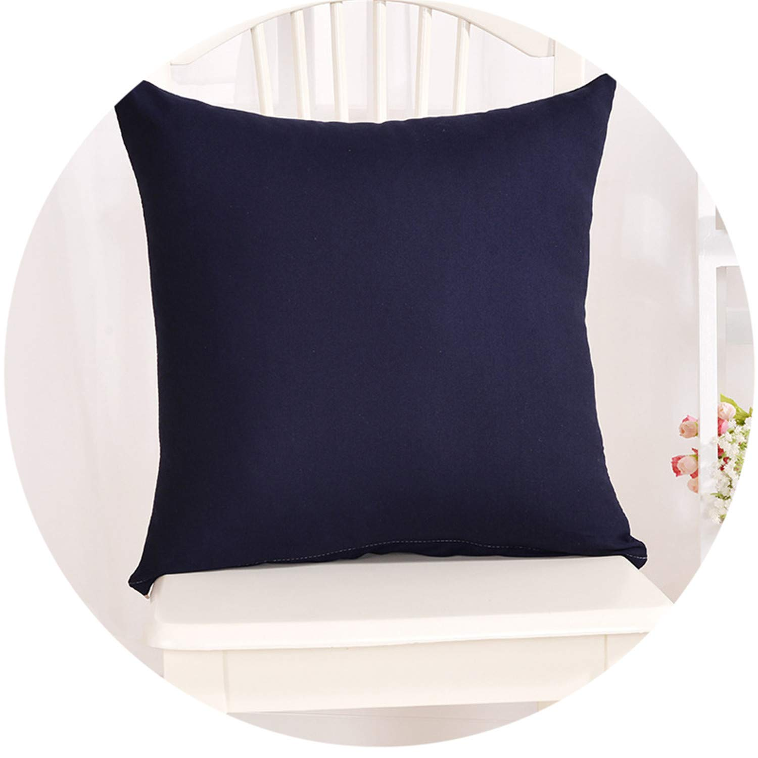 Amazon.com: Candy Color Pillow Case Solid Color Throw Pillow ...