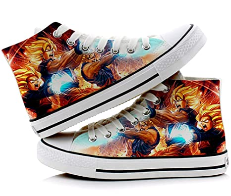 0154f6701029 Image Unavailable. Image not available for. Color  Telacos Dragon Ball Z  Son Goku Vegeta Cosplay Shoes Canvas Shoes Sneakers ...