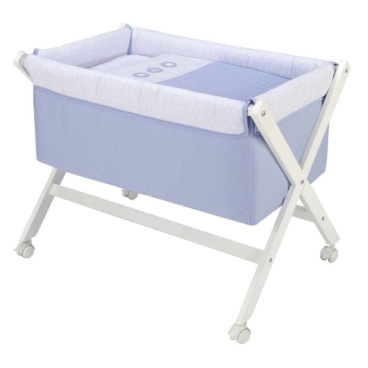 Cambrass Small Bed X Wood Une, 55 x 87 x 74 cm, Pic Blue Cambruss 41209