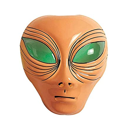 Máscara de cabeza de extraterrestre ufo espacio alien antifaz halloween intergaláctica fiesta