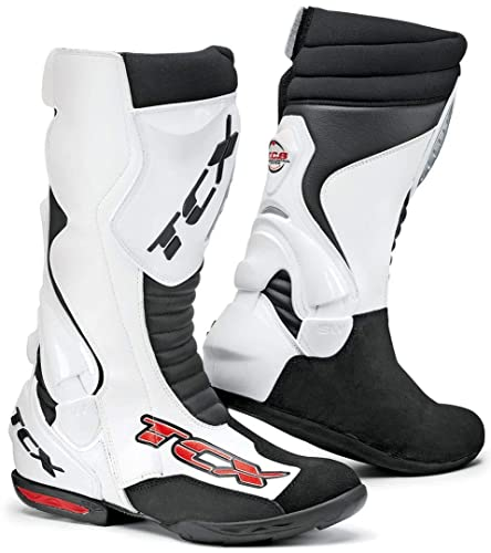 TCX TCS Speedway Traspirante Stivali Da Moto Bianco: Amazon