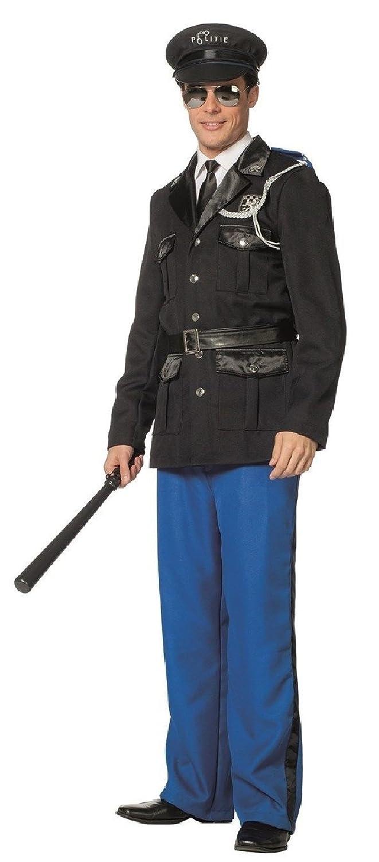 L3301230-60 Polizist blau-schwarz Herren Polizeikostüm Gr.60
