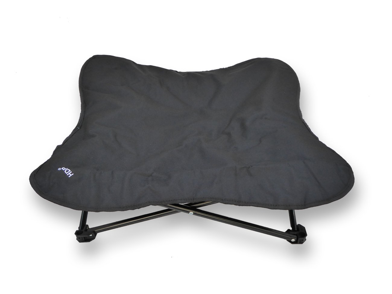 HDP Elevated Padded Napper Cot Space Saver Pet Bed Color:Black Size:Medium